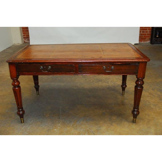 19th century english regency walnut writing table chairish for Table th width ignored