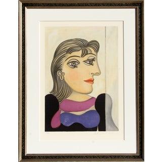 "Picasso - ""Buste De Femme Au Foulard Mauve"""