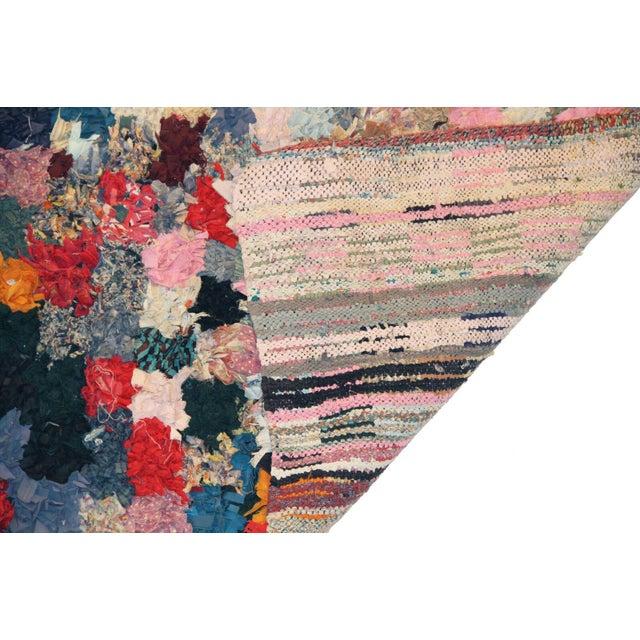 """Vintage Boucherouite Rag Rug - 3'5""""x4'6"""" - Image 3 of 3"""