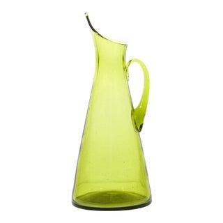 Green Blenko Glass Pitcher
