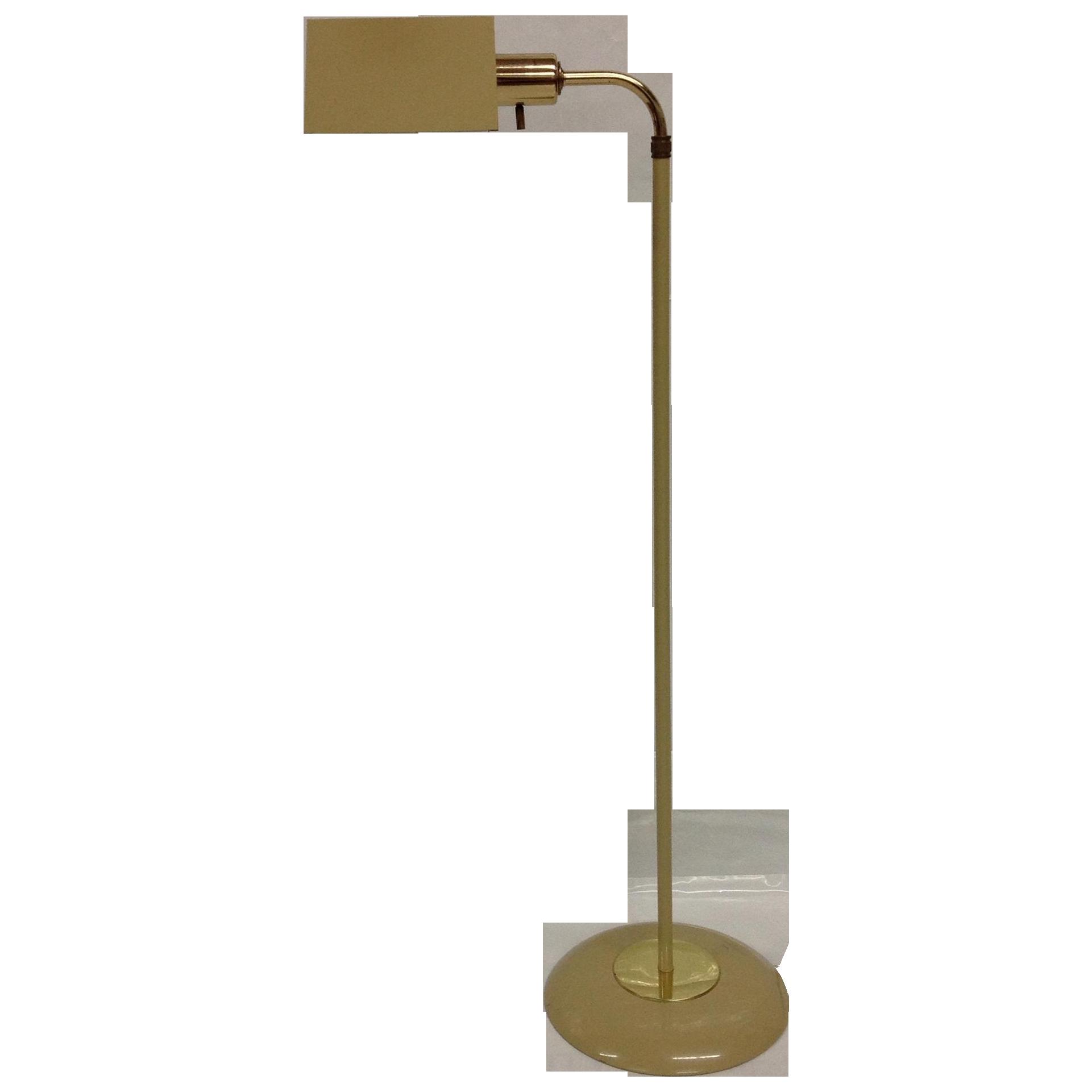 midcentury beige u0026 brass pharmacy lamp