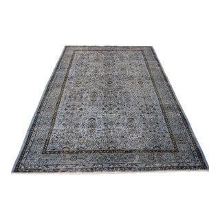 Blue Color Turkish Overdyed Rug - 6′5″ × 10′2″