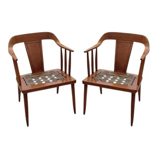 Tomlinson Mid Century Modern Arm Chairs - Pair