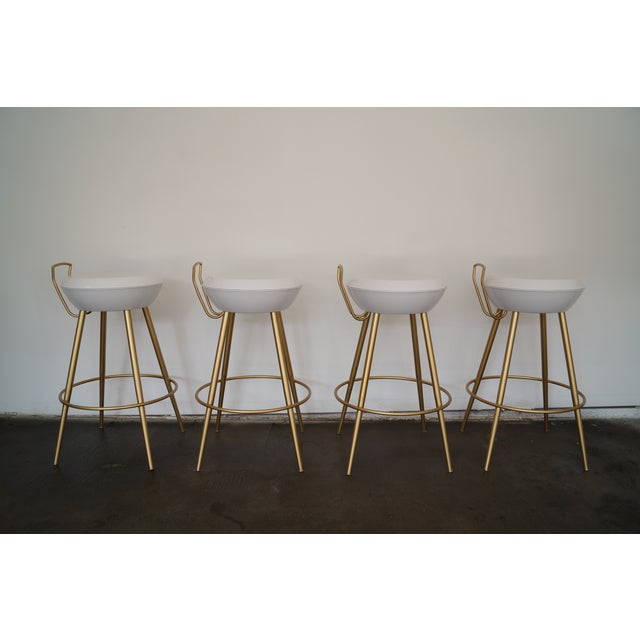 Mid-Century California Modern Bar Stools - Set of 4 - Image 9 of 11