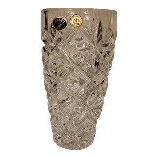 Bohemia Czech Republic 24% Lead Glass Crystal Vase
