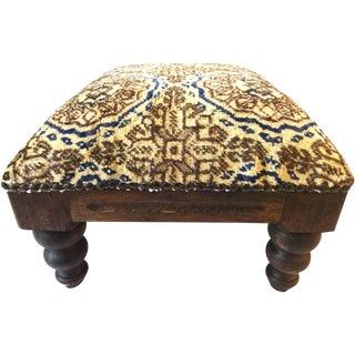 Antique Turkish Rug Footstool