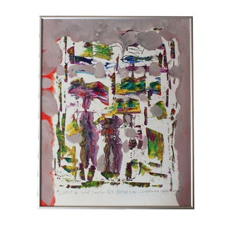 "Lester Schwartz ""Voodoo Ash Wednesday"" Painting"
