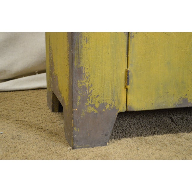 Primitive Distressed Painted Country Small Dry Sink Cabinet - Image 7 of 11