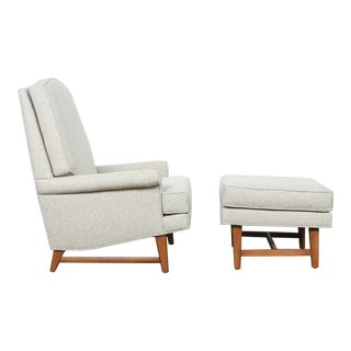 Mid-Century Lounge Chair & Ottoman Set
