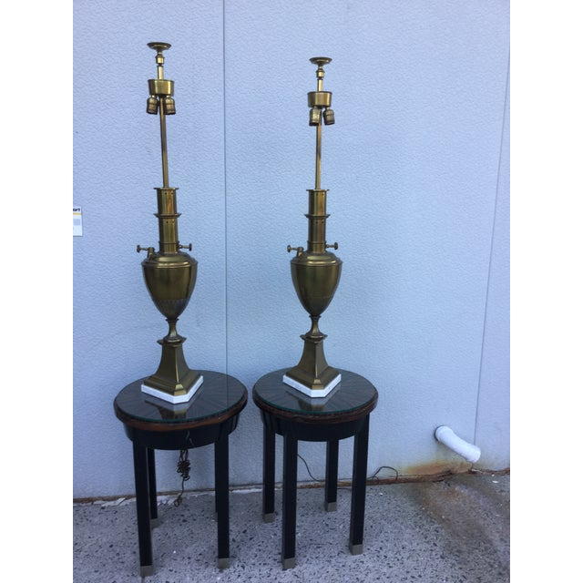 Vintage 1960s Brass Table Lamps - A Pair | Chairish
