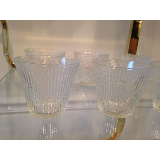 Mid-Century Clear Old Fashioned Glasses - Set of 6 - Image 3 of 4