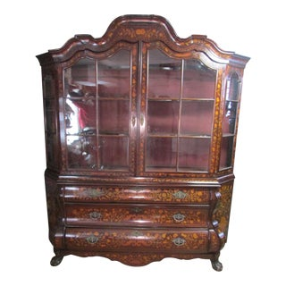 18th Century Dutch Inlaid Display Cabinet