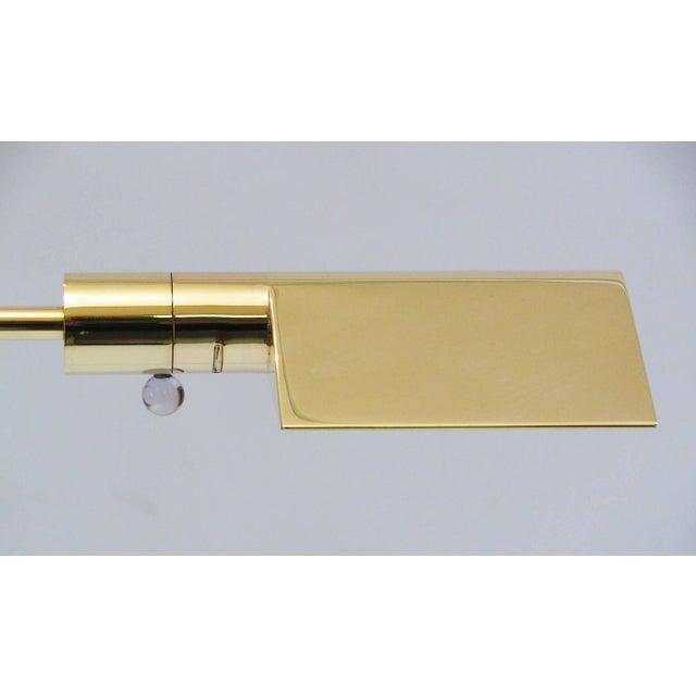 Cedric Hartman Polished Brass Reading Lamp - Image 4 of 8