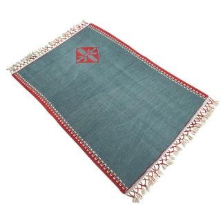"""Turkish Anatolian Kilim Wool Rug - 2'10"""" x 4'1"""""""