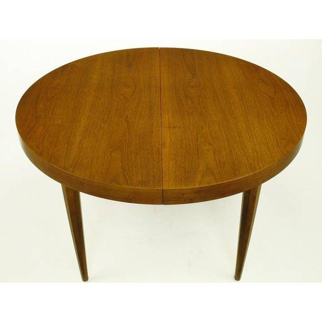 Sleek Modern Walnut Dining Table in the Style of T.H. Robsjohn-Gibbings - Image 2 of 7