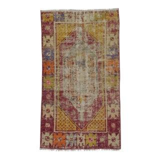 Vintage Small Colorful Turkish Rug