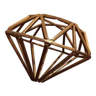 Gold Metal Diamond Model