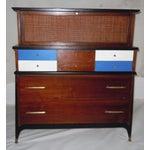 Image of Mid-Century Modern Walnut & Painted Dresser