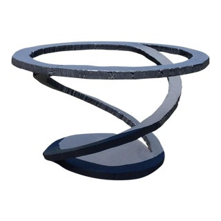 "Roche Bobois Maurice Baritone ""Metal Flower"" Torch Cut Steel Coffee Table"