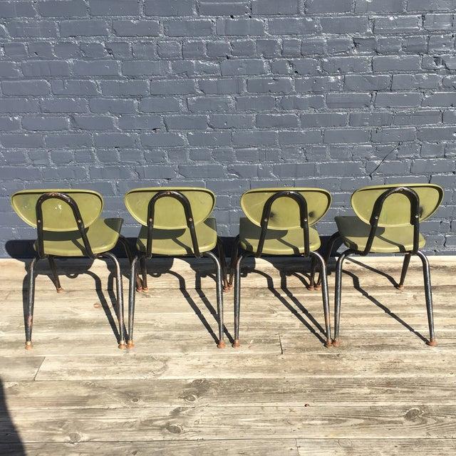 Mid-Century Metal Kids Chairs - Set of 4 - Image 4 of 5