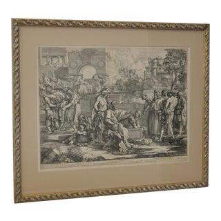 17th to 18th Century Engraving by Sebastien Bourdon