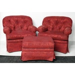 Image of Sherrill Club Chairs & Ottoman - Set of 3