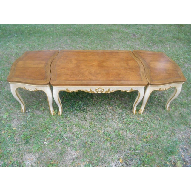 Baker Furniture French Regency Collector Series 3 Piece Coffee Table - Image 3 of 10