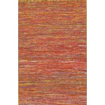 Image of Pasargad Modern Collection Red Silk Rug - 6' x 9'
