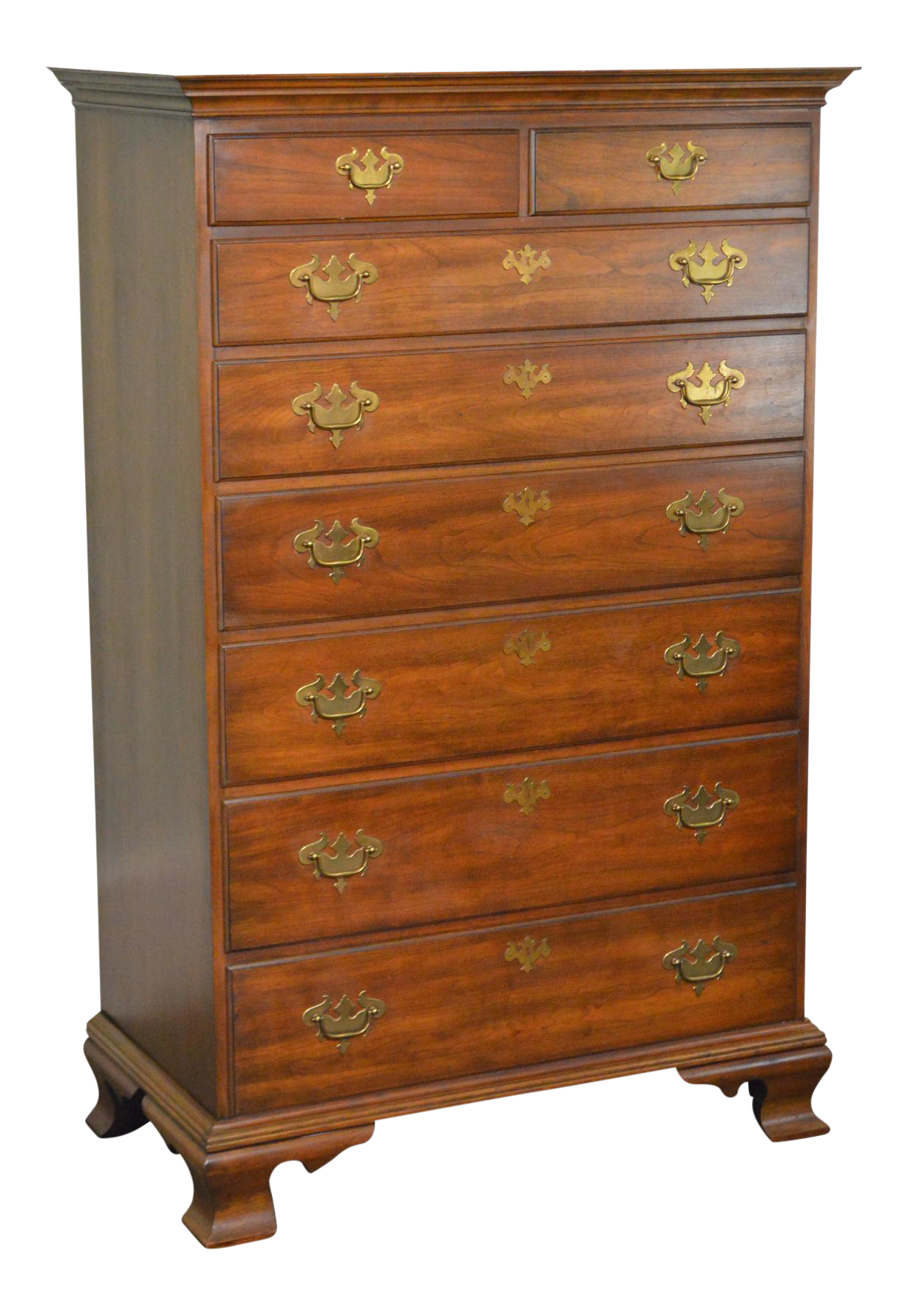 Lovely Pennsylvania House Solid Cherry Chippendale Style Vintage Tall Chest