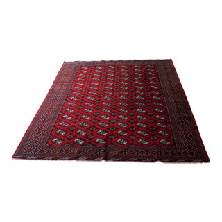 Antique Hand-Knotted Bokhara Persian Rug - 10′ × 12′