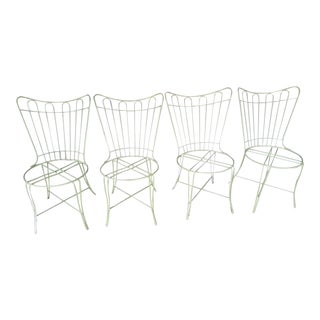 Vintage Metal Garden Chairs - Set of 4