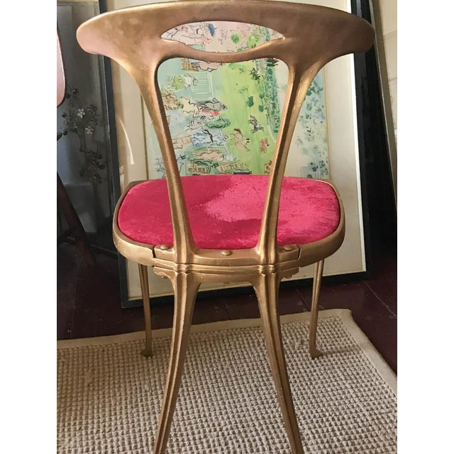 Vintage Hollywood Regency Gilt Metal Chair - Image 5 of 10