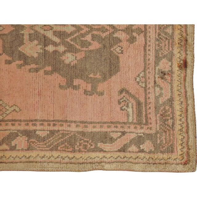 """Vintage Turkish Oushak Rug - 4'0"""" X 6'7"""" - Image 2 of 3"""
