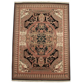 RugsinDallas Hand Knotted Wool Pakistani Rug With French Design - 10′1″ × 14′5″