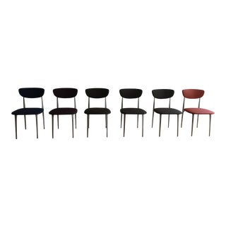 Vintage Contemporary Black Dining Chairs - Set of 6