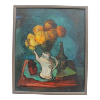1960's Vintage Table Setting Still Life Painting
