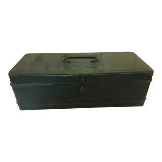 Vintage Green Metal Tool Box