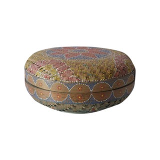 Bohemian-Style Wicker Container