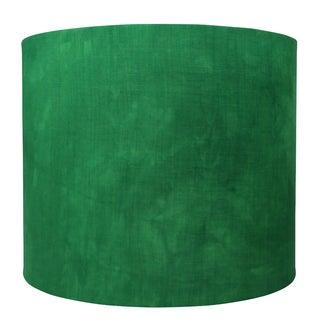 Linen Hand Dyed Emerald Green Handmade Lampshade