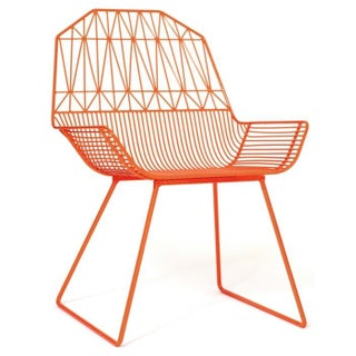 Organic Modern Farmhouse Lounge Chair Orange