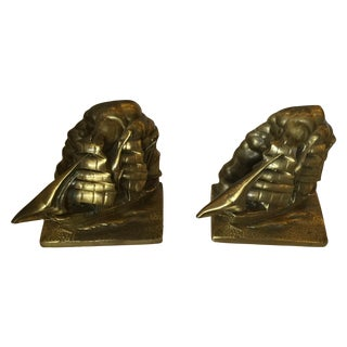 Bronze Ship Bookends - Pair