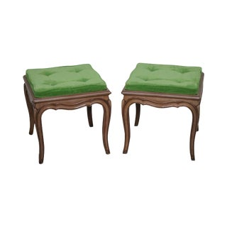 Vintage French Louis XV Benches or Stools - A Pair