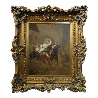 Paul Louis Narcisse Grolleron -The Combat - Franco Prussian War -Oil Painting