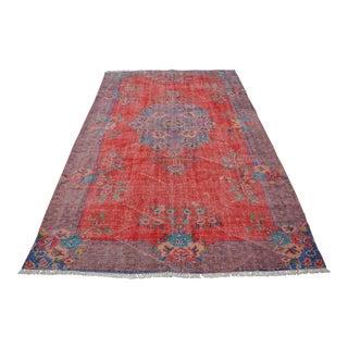 Antique Turkish Wool Rug - 5′10″ × 9′4″