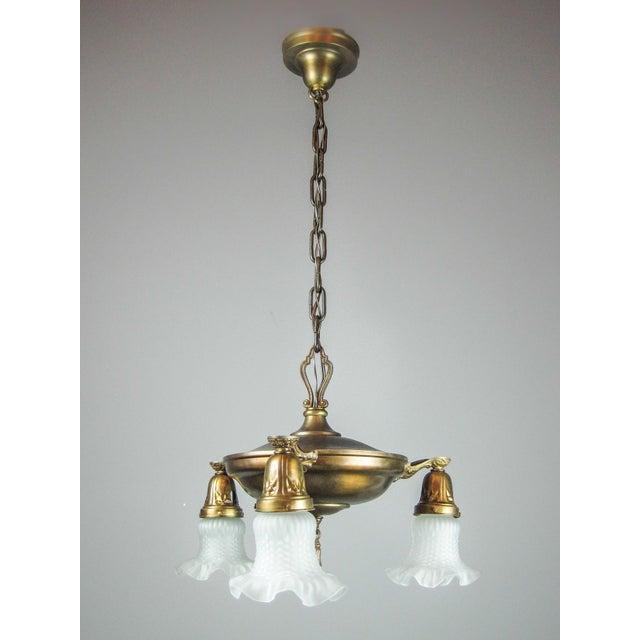 Original Pan Light Fixture (3-Light) - Image 2 of 8