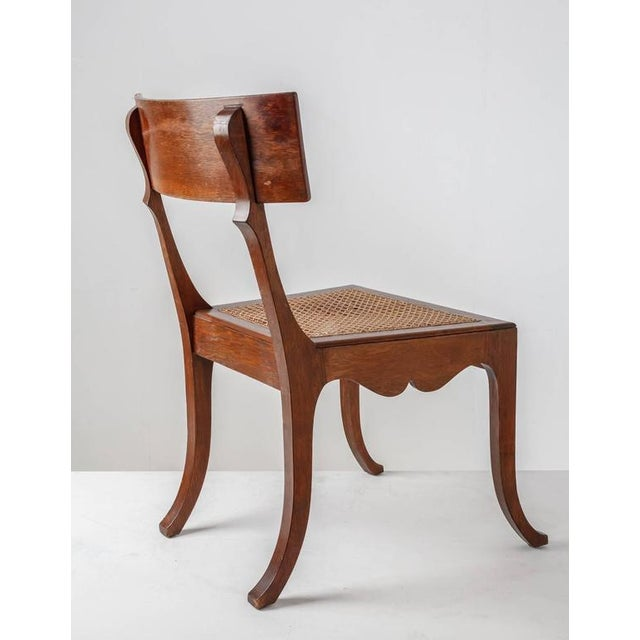 Ole Peter Momme Oak and Cane Klismos Chair, Denmark, 1880s - Image 4 of 10