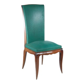 René Prou Set of Six Dining Chairs in Beech
