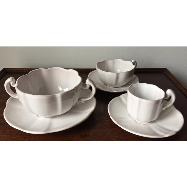55 Piece-Rouard French Faience Glazed Terra Cotta Dinnerware-1950's - Image 6 of 8