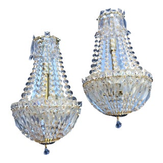 Mid-Century Modern Crystal Wall Sconces