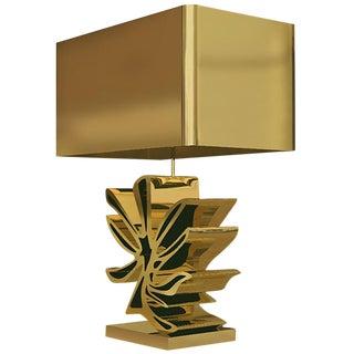 Cast Bronze Flower Lamp